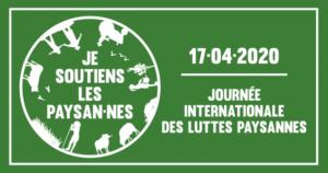 Action et e-mobilisation Journée des Luttes paysannes et sécurité alimentaire