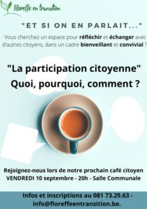 Café Citoyen - La participation citoyenne